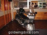 My 88 GL1500/6 parked in front of the Bar at a function in the Waiouru WO's & Sgt's Mess