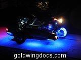 Dons Blue LEDs-GL1500 sidecar