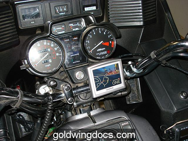 TomTom GPS mounted on my bike