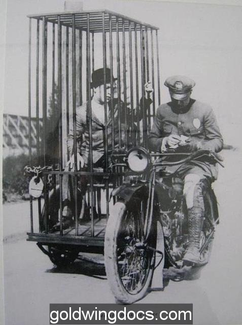 Motorcycle Jail Cell from 1921