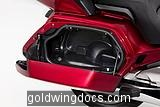Inside saddlebag