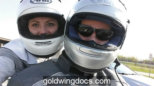 Helmet Selfie with my wife