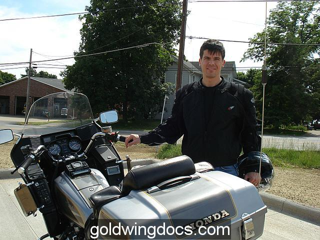 Me next to our GL1100 in Dover, Ohio