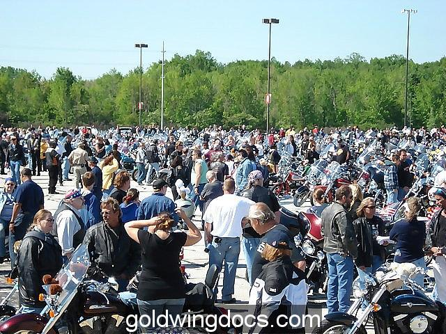Thousands of bikes and riders