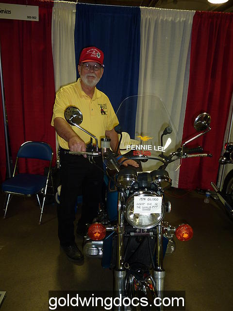 """Pistol Pete with one of his beloved """"new"""" GL1000's"""