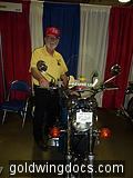 "Pistol Pete with one of his beloved ""new"" GL1000's"