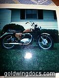 Found this picture and it's not a Goldwing but this belonged to my Dad. It's a 1969 BSA.