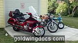 new garage and bikes