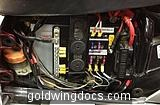 My aux fuse panel with ground bar-fed from 40 Amp relay