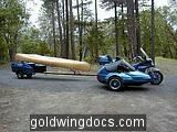 GL1200 with 17ft trailer and 16ft canoe