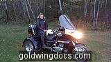 20151002 191130 My wife on our New/Old 1994 Honda Goldwing 1500A. Rode it home Oct 2nd 275 miles