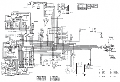 1982 GL1100A Schematic Diagram