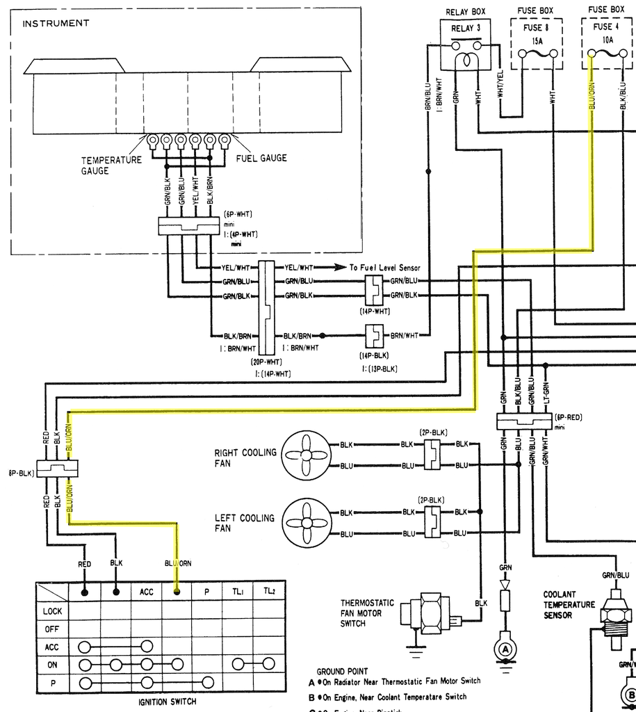 1979 Honda Goldwing Cooling Fan Wiring Diagram. Honda