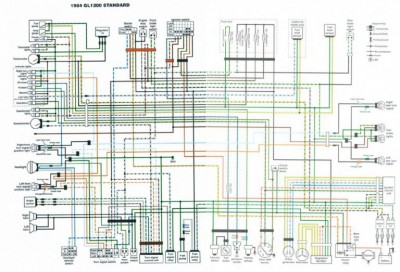 GL1200 Standard 1984 Color Schematic    Diagram        Reference