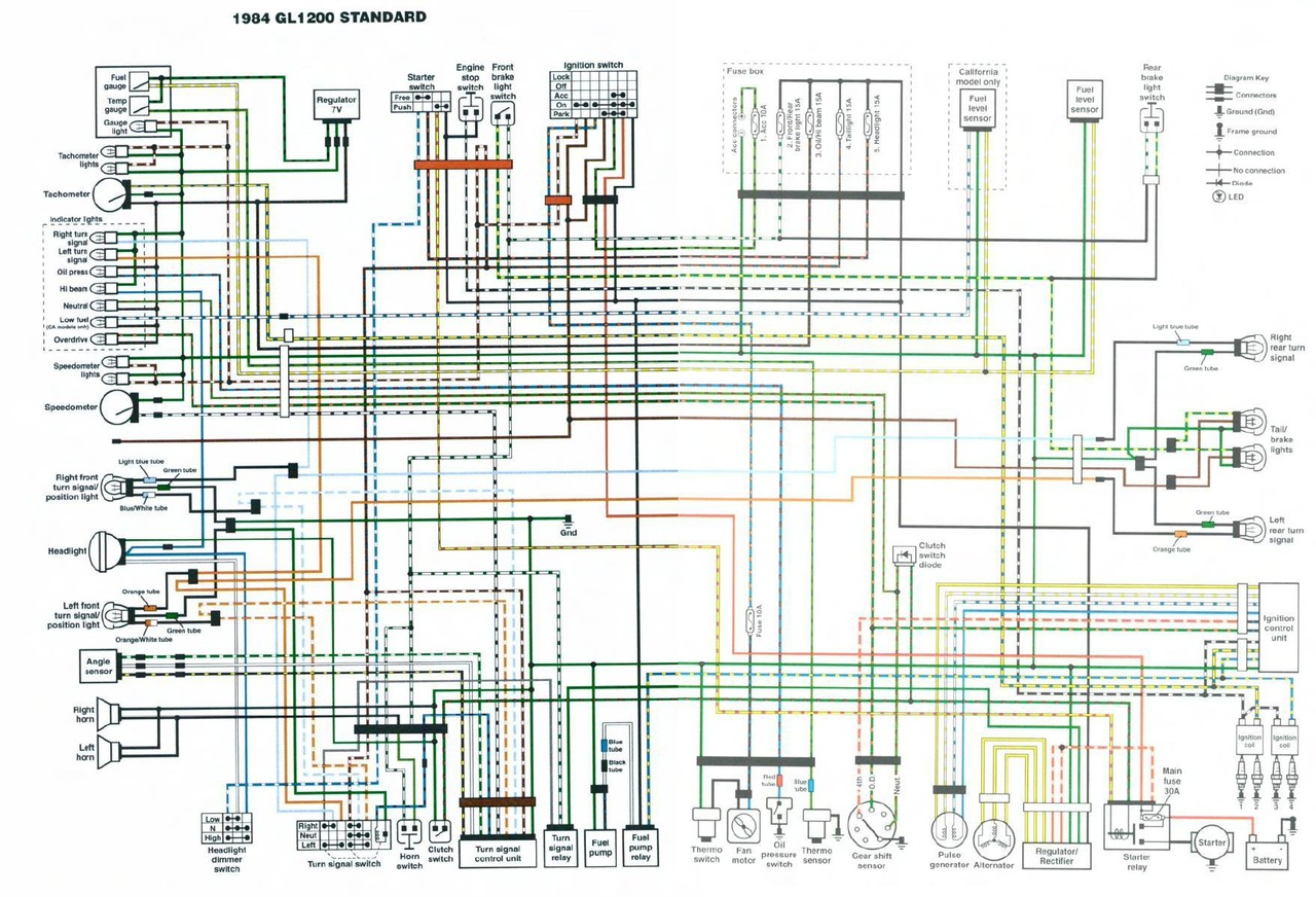 Goldwing Wiring Diagram Another Blog About Honda Gl1000 Get Free Image 1800 Headset