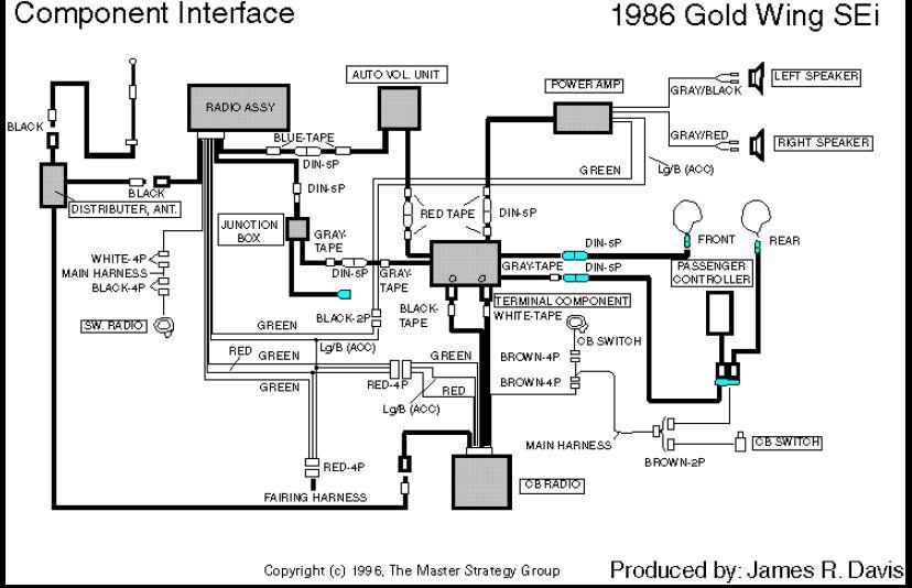 Radio--Cb-power Amp Wiring • GL1200 Information