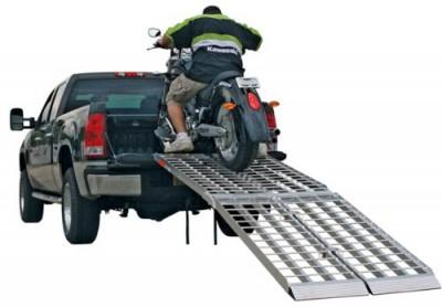 Aluminum Folding Ramps >> Big Boy Aluminum Folding Motorcycle Ramp - 10' Long ...