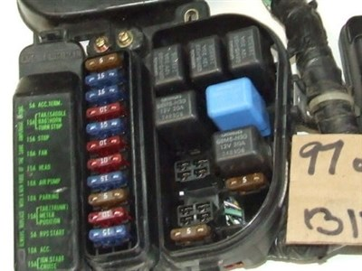 the relay box does contain a couple of fuses, 12 and 13  13 is the back-up  fuse that runs the clock and holds the radio station memory when the bike  is