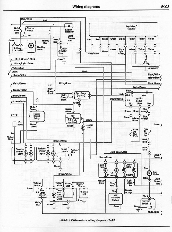86 goldwing aspencade wiring diagram 86 goldwing fairing