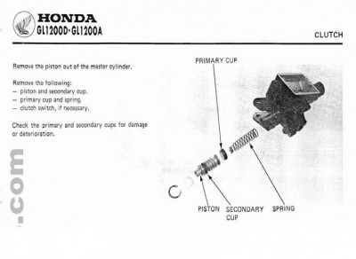 86 Aspencade Clutch Master Cylinder Rebuild • GL1200