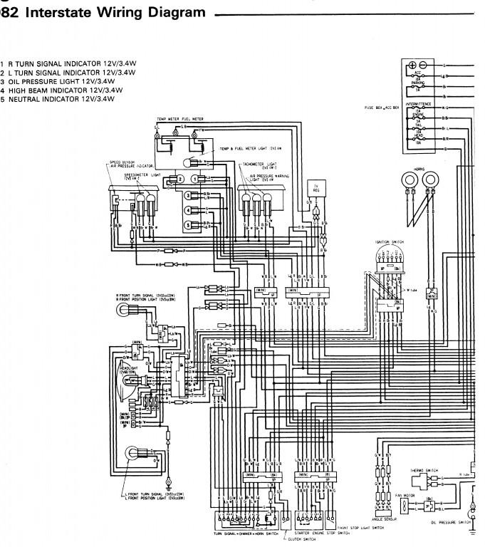 1982 Honda Goldwing Gl1200 Aspencade Wiring Diagram Usa