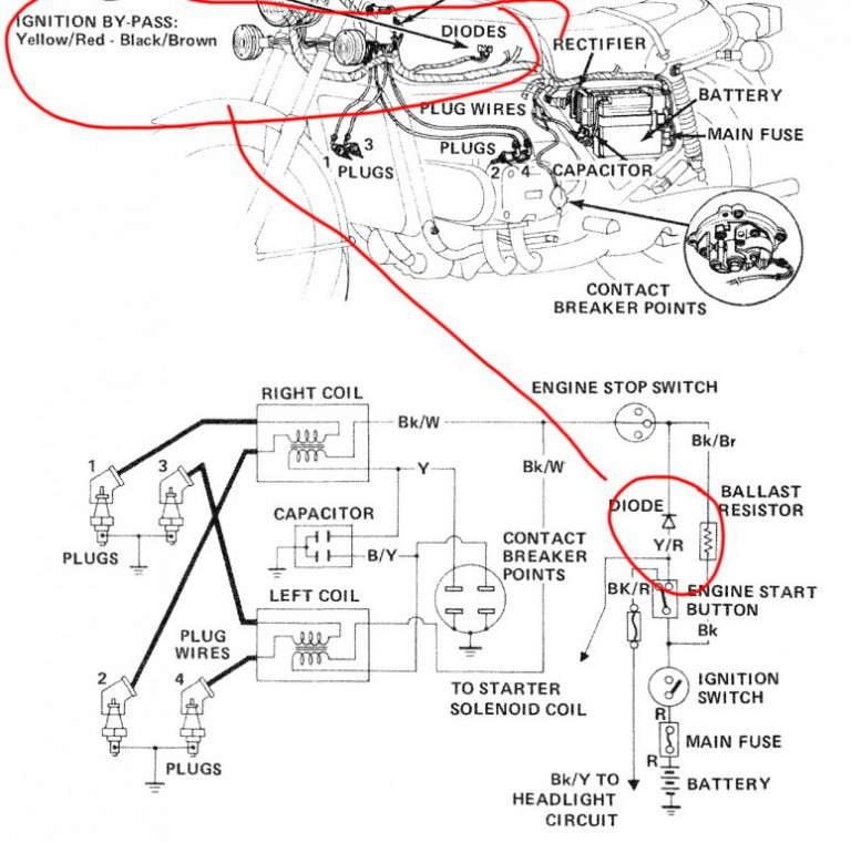 Honda Elite 250 Wiring Diagram Honda XR 250 Wiring Diagram