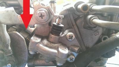 Idle adjustment screw • GL1500 Information & Questions