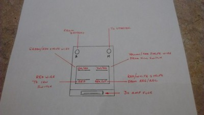 replaced the starter solenoid on my '85 ltd  here is the schematic for the  wiring:
