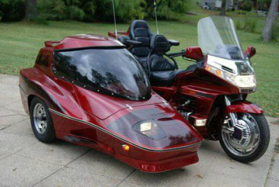 99 GL 1500 anniversary edition with Hannigan Side car • For