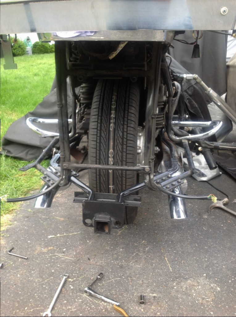 Dark side tire install and trailer hitch • GL1500 Information & Questions • goldwingdocs.com