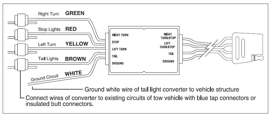 on 4 wire trailer schematic