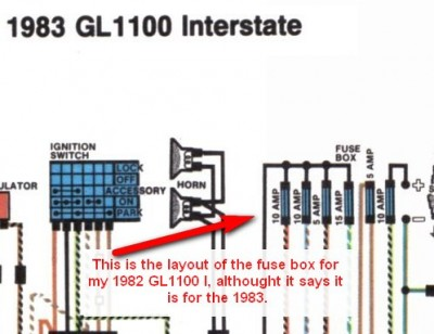 my 82 has the fuse box layout of the 83 gl1100. Black Bedroom Furniture Sets. Home Design Ideas