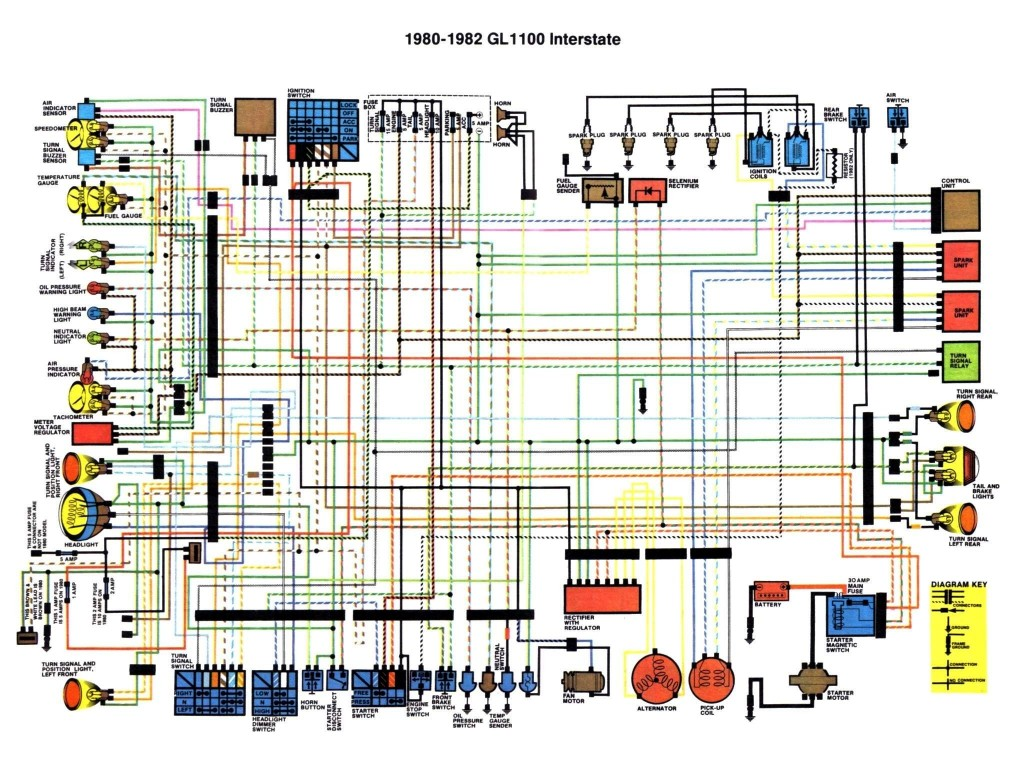 hondaline wiring diagram wiring diagrams and schematics honda goldwing motorcycle service and owners manuals wiring diagrams