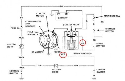 82 gl1100 starter relay problems • gl1100 information questions i suspect that if you measure you will volts on both wires when you push the start button