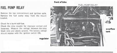 1986 honda goldwing gl1200 fuel pump relay location. Black Bedroom Furniture Sets. Home Design Ideas