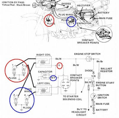 83 goldwing wiring diagram  | 704 x 530