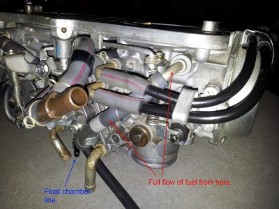 Solid stream of fuel from overflow pipe/Fuel leaks • GL1500