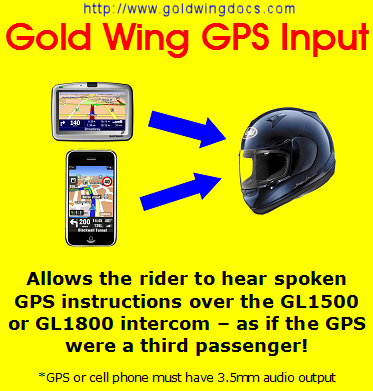 Goldwing GPS Audio Input Device