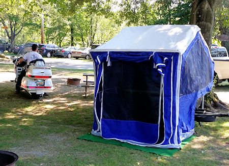 GL1500 Camping with Trailer