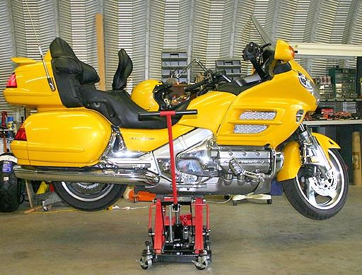 GL1800 on Motorcycle Lift