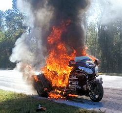 GL1800 Trike on Fire
