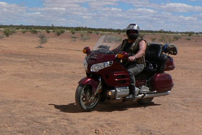 Goldwing Rider in the Desert