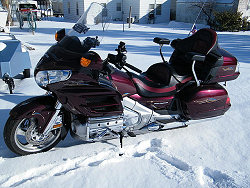 Goldwing in the Snow