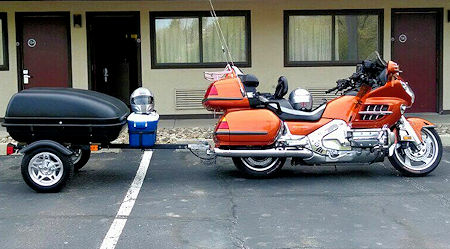 Goldwing with Harbor Freight Trailer