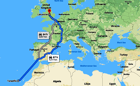 Route Across Europe