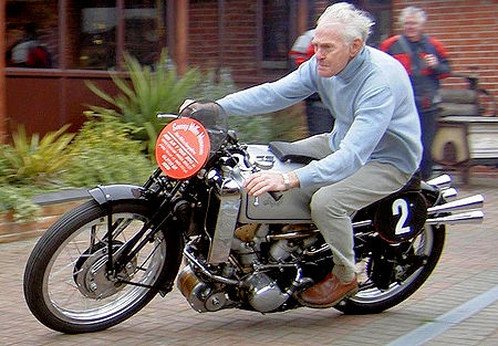 Old Man on Motorcycle