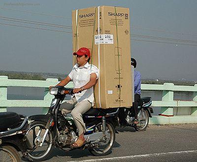 Refrigerator on bike
