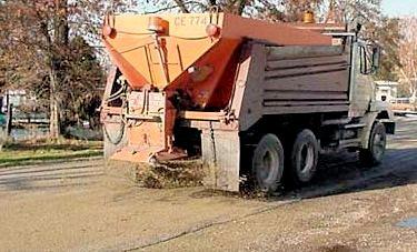 Truck Sanding Road