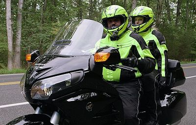Goldwing Riders with Protective Gear