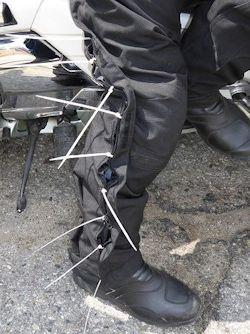 Roadside Wire Tie Pants Repair